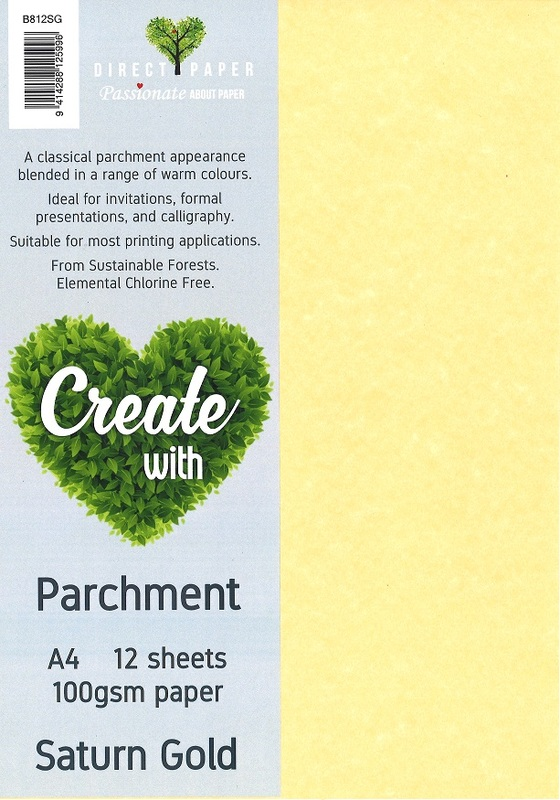 Parchment Paper A4 100gsm - Saturn Gold (12 Pack)