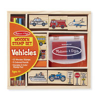 Melissa & Doug: Vehicle Wooden Stamp Set