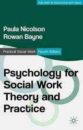 Psychology for Social Work Theory and Practice by Paula Nicolson image