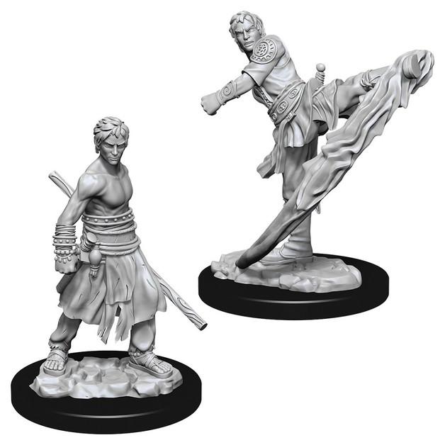 D&D Nolzur's Marvelous: Unpainted Miniatures - Male Half-Elf Monk