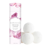 Linden Leaves Crystal Crush Bath Bombs - Rose Quartz (4 x 35g)