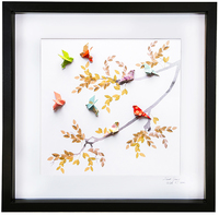 Short Story: Birds of Paradise Yellow - Large Frame (Black)