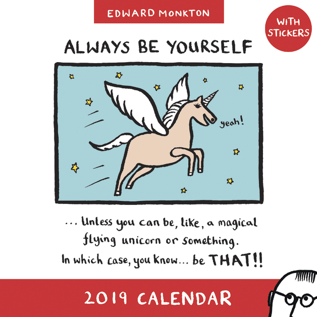 Edward Monkton: Unicorn 2019 Wall Calendar