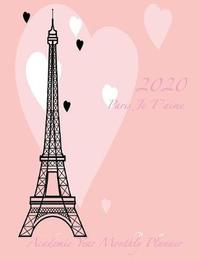 2020 Paris Je T'aime Academic Year Monthly Planner by Laura's Cute Planners