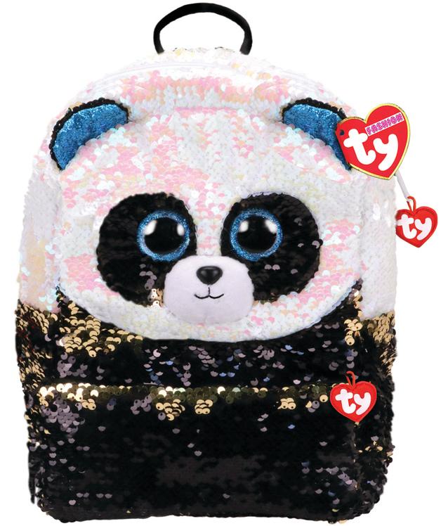 Ty Fashion: Sequin Backpack - Bamboo Panda