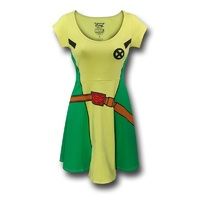 X-Men Rogue Women's Slim Skater Dress (Large)