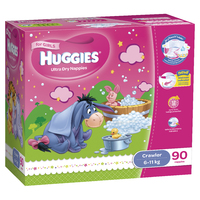 Huggies Ultra Dry Nappies: Jumbo Pack - Crawler Girl 6-11kg (90) image