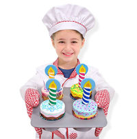 Melissa & Doug: Bake & Decorate Wooden Cupcake Set