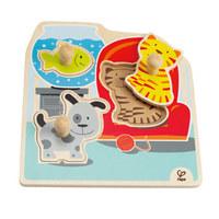 Hape: My Pets Wooden Knob Puzzle