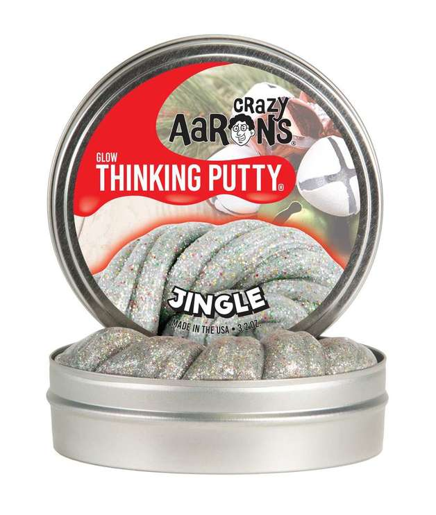Crazy Aaron's Thinking Putty: Holiday - Glow in the Dark Putty - Jingle