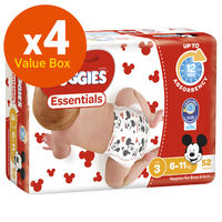 Huggies Essentials Nappies Bulk Value Box - Size 3 Crawler (208)
