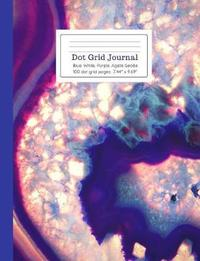 Dot Grid Journal Blue White & Purple Agate Geode by Ahri's Notebooks & Journals