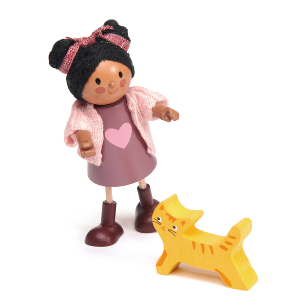 Tender Leaf Toys: Ayana with Flexible Limbs & Her Cat