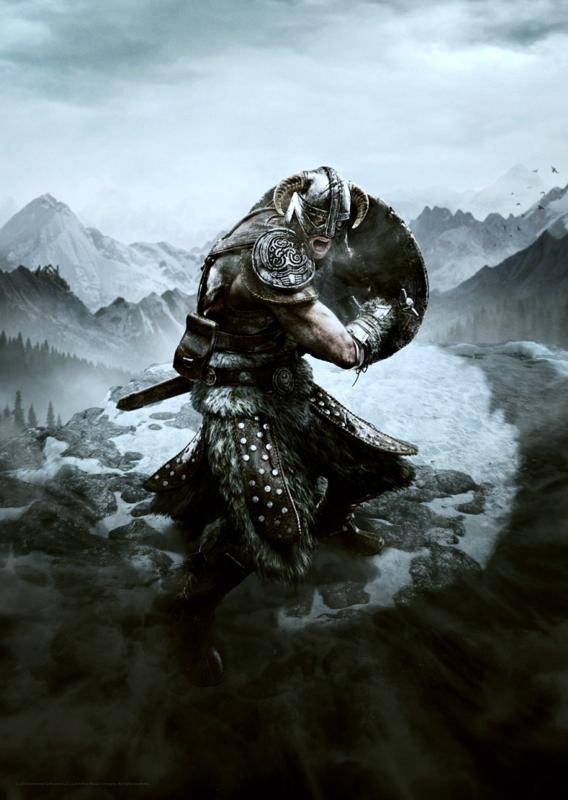Elder Scrolls: Skyrim - Premium Art Print - Dragon Shout