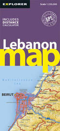 Lebanon Road Map by Explorer Publishing and Distribution image