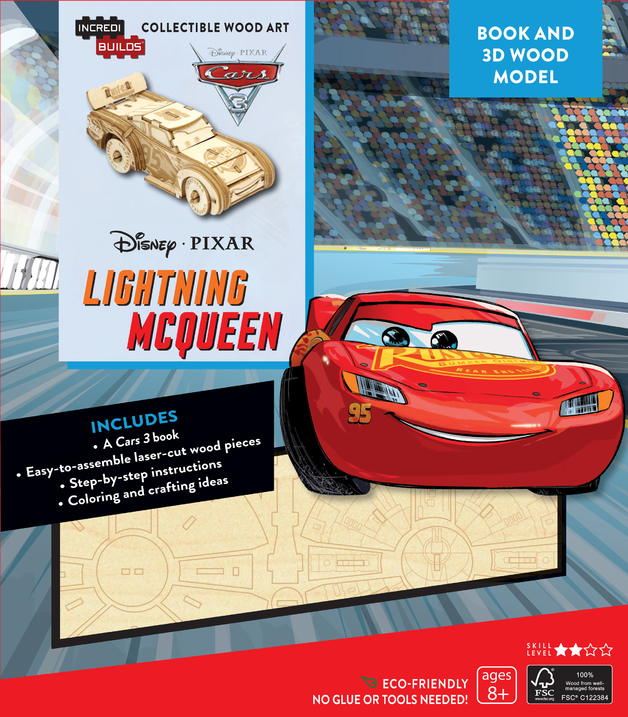 8e15dcc07d5 Incredibuilds  Disney Pixar Cars 3  Lightning McQueen 3D Wood Model and  Book by Barbara