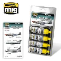 Ammo of Mig Jimenez: Bare Metal Aircraft Colour Set