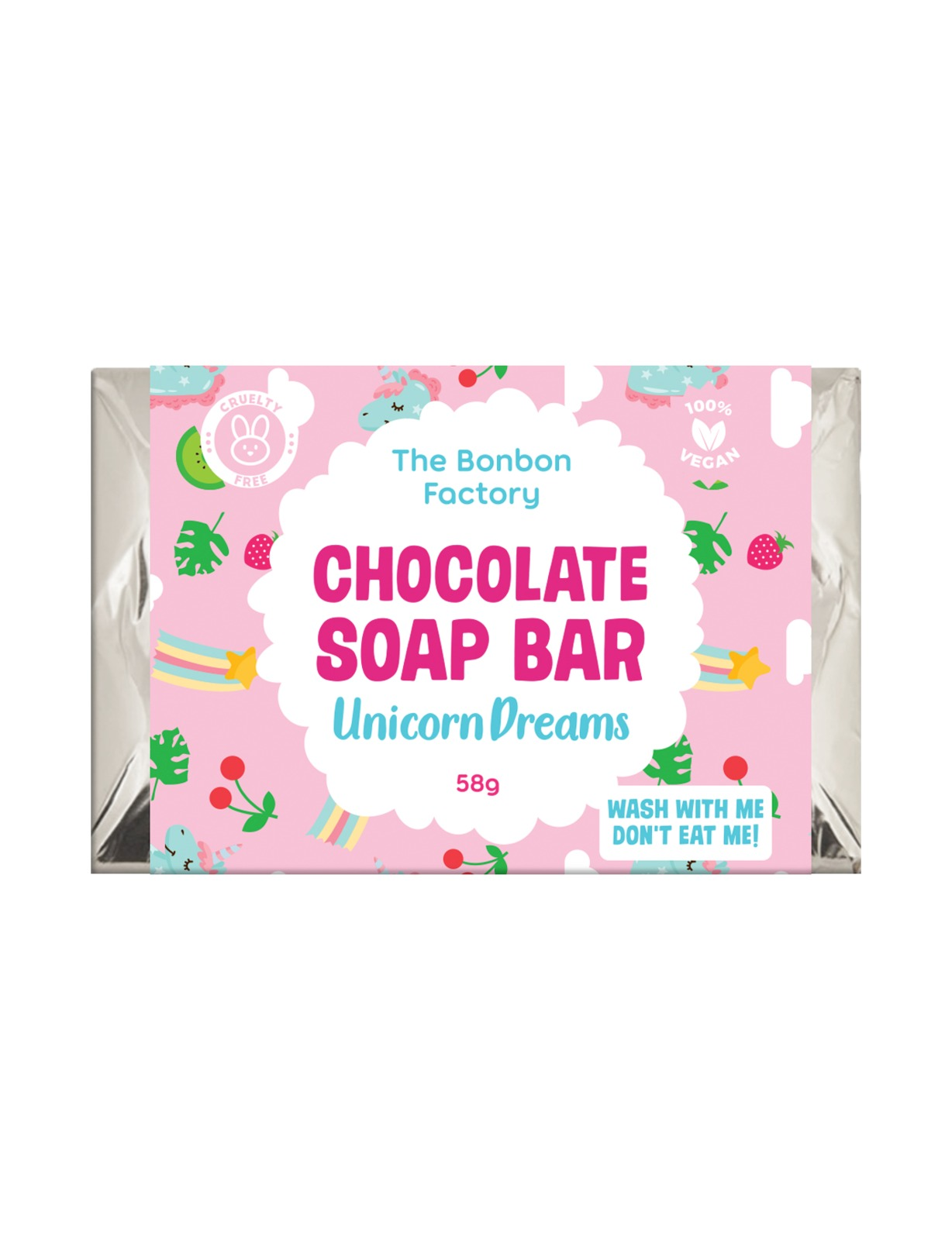 The Bonbon Factory Choc Soap Bar Slab - Unicorn Dreams image