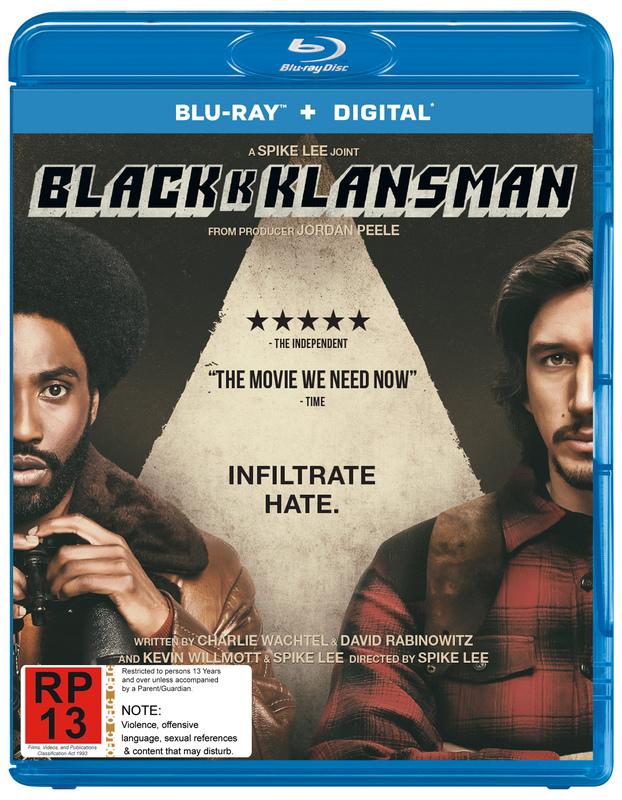 Blackkklansman on Blu-ray