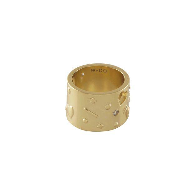 Wanderlust + Co: Aleya Gold Ring (Size 8)
