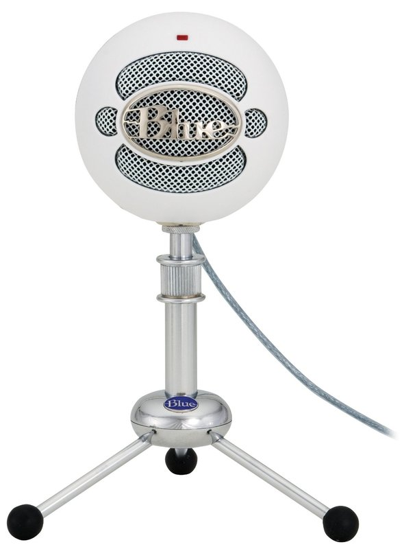 Blue Microphones Snowball USB Microphone (Textured White) for