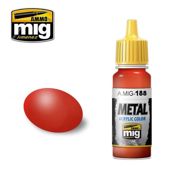 Ammo of Mig Jimenez Metallic Red (17ml)