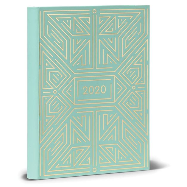 2020 High Note Mint Geometric in Gold 18-Month Weekly Planner