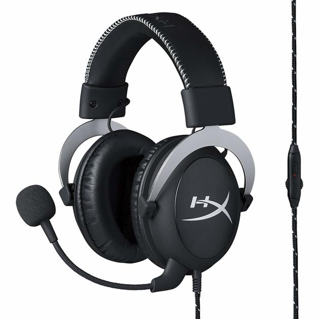 HyperX Cloud Pro Gaming Headset (Silver) for PC