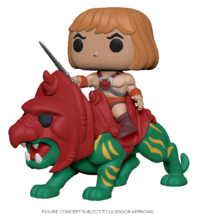 MOTU: He-Man on Battlecat - Pop! Ride Figure image