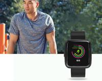 Smart Watch Waterproof BT4.0 Heart Rate Watch for Men Women - Black