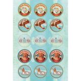 Papaya Sticker & Labels - Air Mail Seals