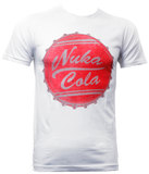 Fallout Nuka Cola Bottle Cap T-Shirt - White (X-Large)