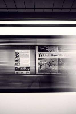 Mind Blowing Black and White Railway Station Departure Platform 150 Page Lined J by Mindblowing Journals image