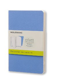 Moleskine Pocket Volant Plain Journal Set - Powder/Royal Blue (Set of 2)
