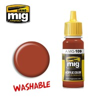 Ammo of Mig Jimenez Acrylic Paint - Washable Rust (17ml)