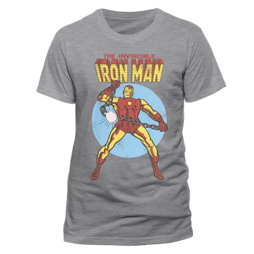 Iron Man - Invincible Unisex T-Shirt Grey - Ex Large