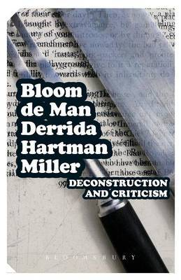 Deconstruction and Criticism by Harold Bloom