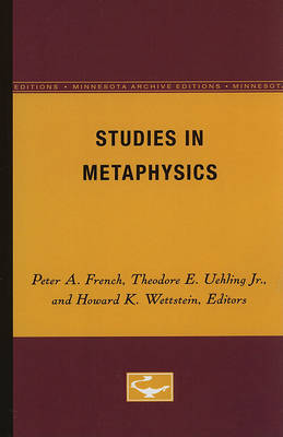 Studies in Metaphysics by French