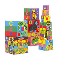 Melissa & Doug: Alphabet Nesting and Stacking Blocks