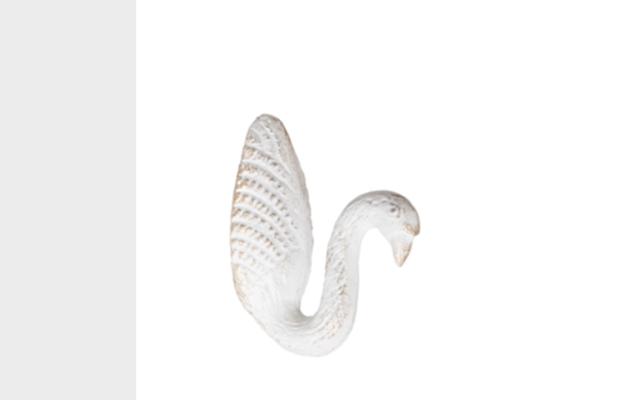 Hook Swan - White/Gold (5X7X10cm)