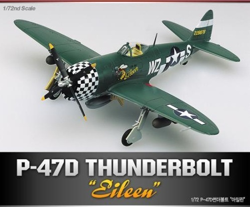 "Academy P-47D Thunderbolt ""Eileen"" 1/72 Model Kit"
