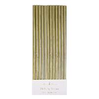 Meri Meri - Gold Foil Party Straws (24 Pack)