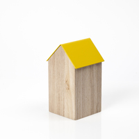 Block Design: Storage House Desk Caddy (Medium Yellow)