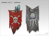 Tabletop-Art: Pirate Banners #2 - Parts Set