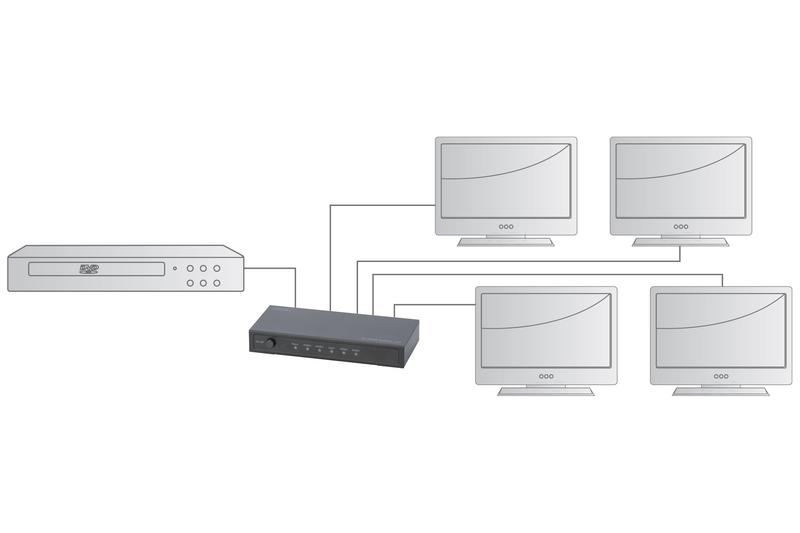 Digitus 4K HDMI 4-Way Powered Splitter image