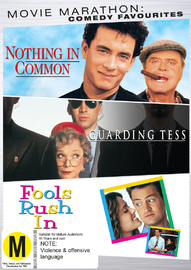 Movie Marathon: Comedy Drama Favorites (Nothing In Common, Guarding Tess, Fools Rush In) on DVD