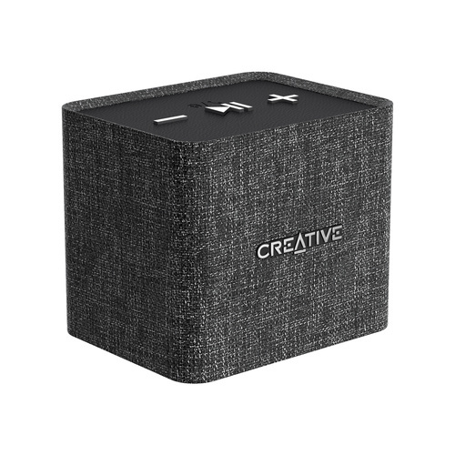 Creative Nuno Micro Designer Cloth Bluetooth Speaker - Black