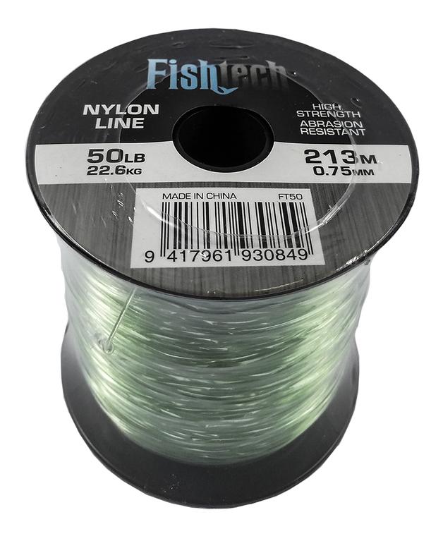 Fishtech 1/4 Pound Nylon Spool 50lb 213m