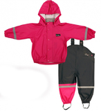 Mum 2 Mum Rain Wear Jacket and Overalls - Hot Pink (2 Years)