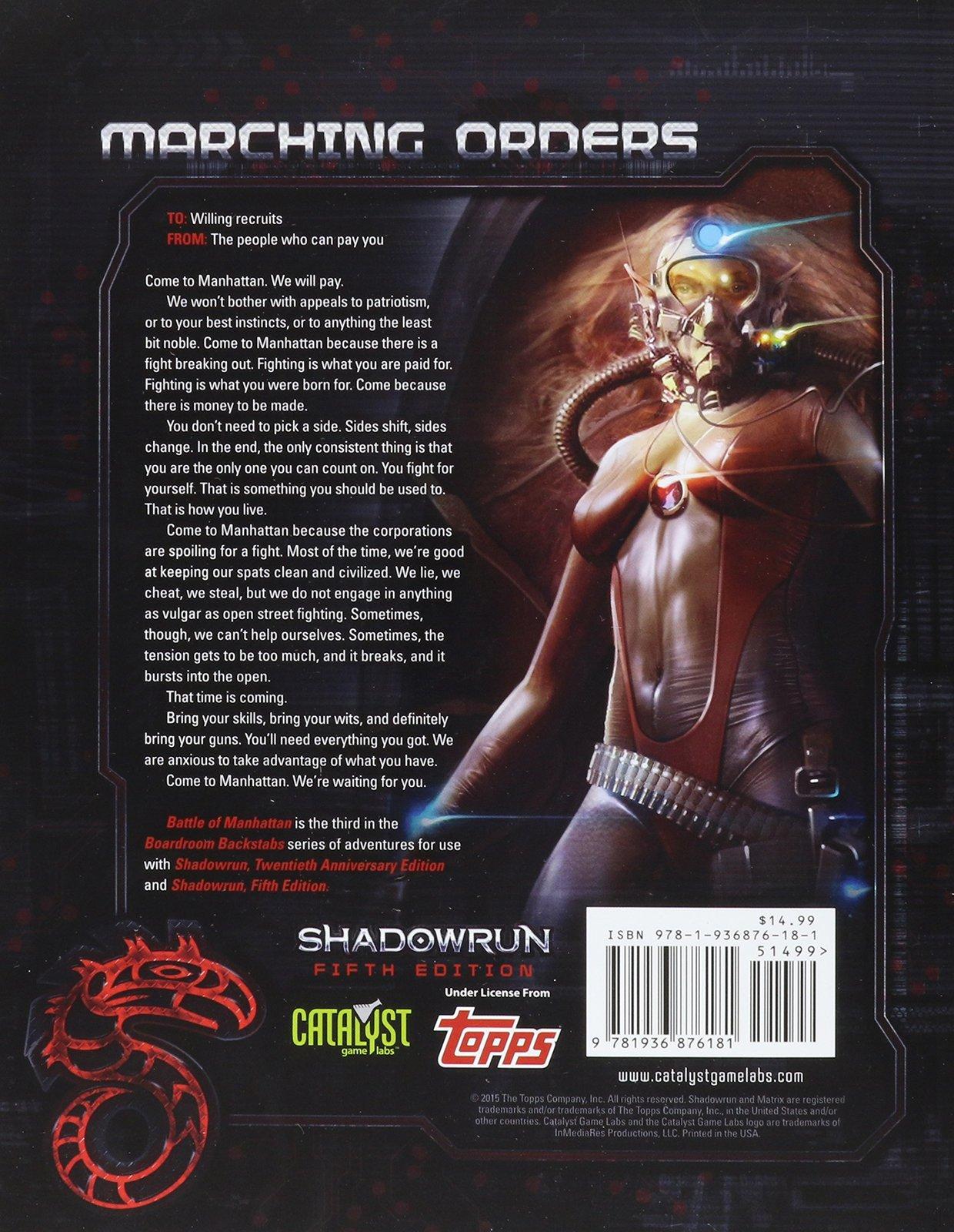 Shadowrun RPG: Battle of Manhattan - Game Supplement image